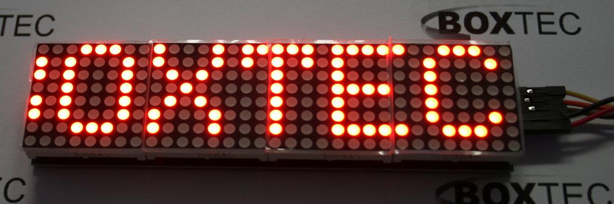32x8 Dot Matrix Display (red) - MAX7219 - Electronics LED LED Dot