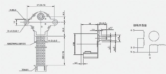 high quality stepper motor 12v  28byj48a